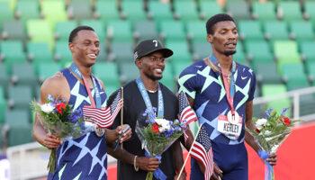 Sprint 100m masculin : les Américains dominent le podium