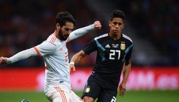 Spanje vs. Argentinië, vriendschappelijk, voetbalweddenschappen