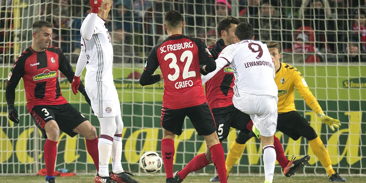 Lewandowski trifft für Bayern München