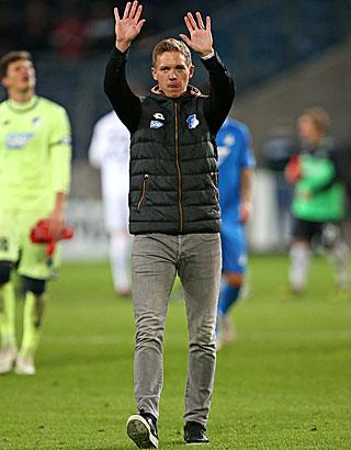 Julian Nagelsmann als Trainer der TSG Hoffenheim.
