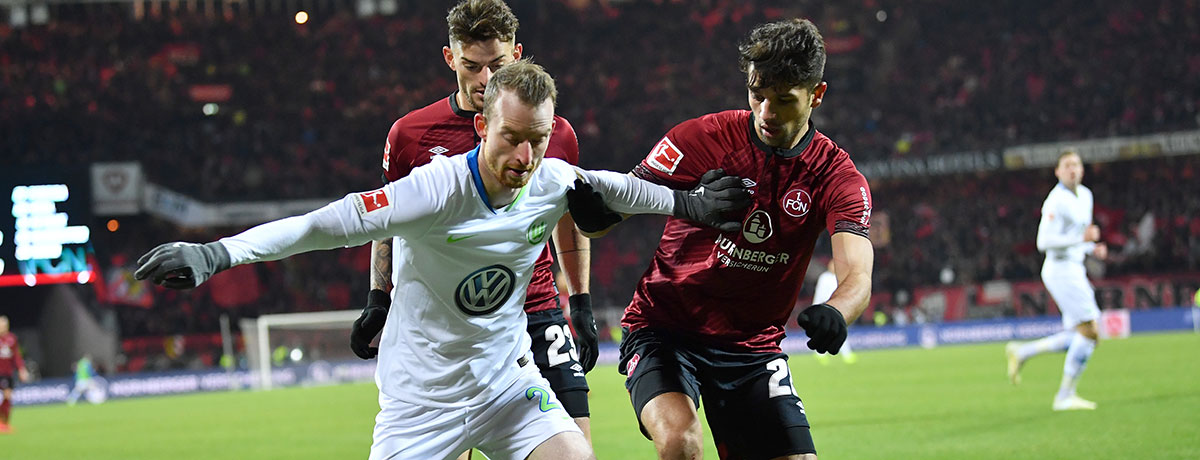 VfL Wolfsburg - 1. FC Nürnberg: Europapokal-Hoffnung gegen Abstiegsangst