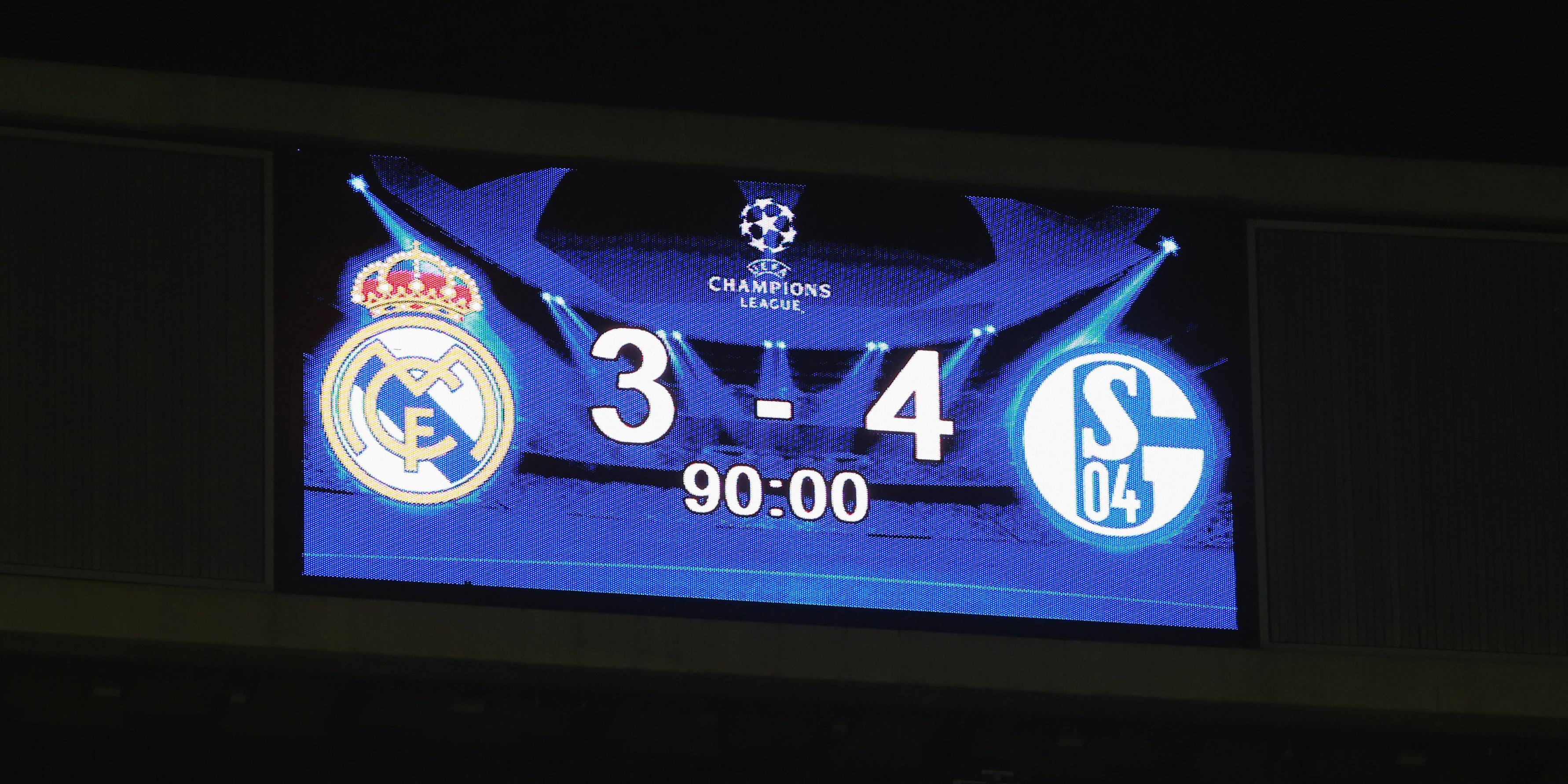 Schalke 04, Anzeigetafel