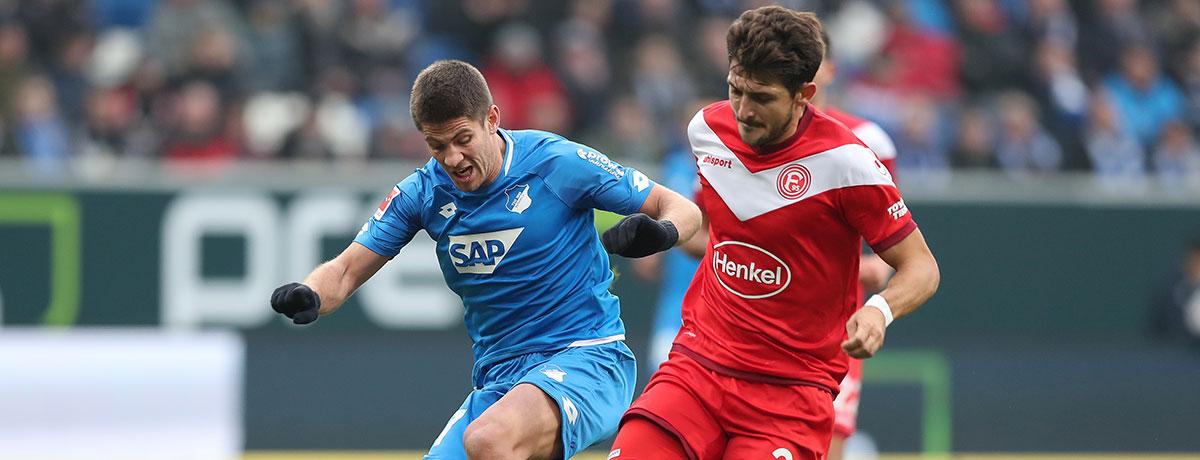 Fortuna Düsseldorf - TSG Hoffenheim: Auswärtssieg wäre eine Premiere