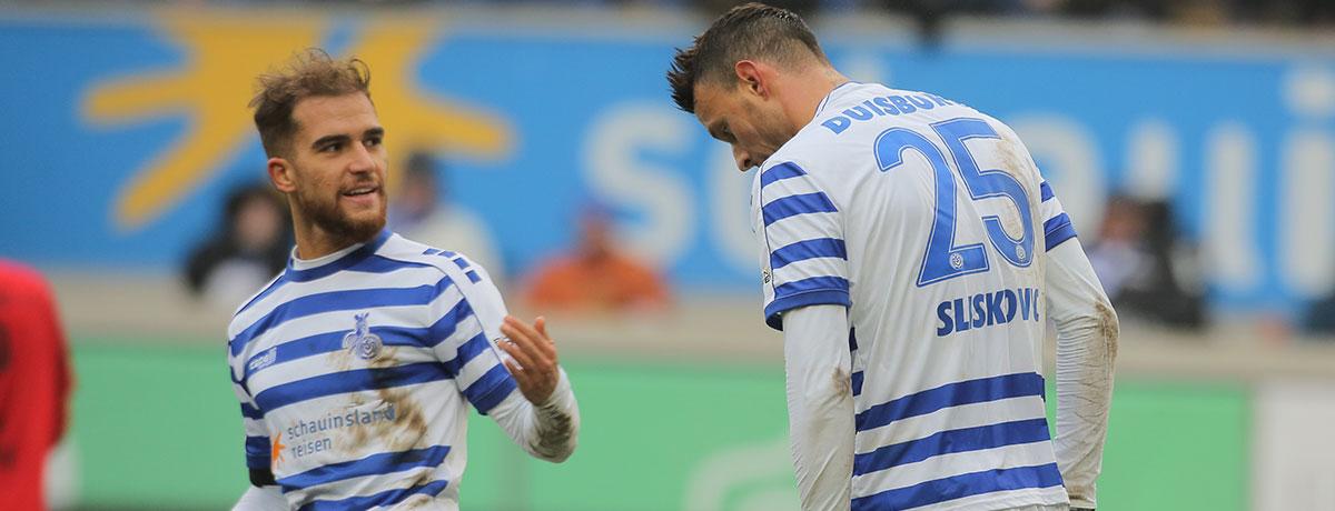 MSV Duisburg - Eintracht Braunschweig: Auf die 2. MSV-Reihe ist Verlass
