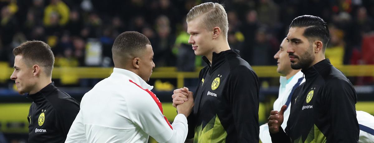 PSG gegen BVB: Duell der Scorer-Könige Mbappé und Haaland