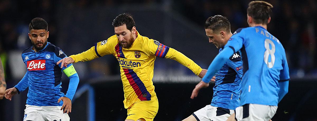 FC Barcelona - SSC Neapel: Viel spricht nicht für die Italiener