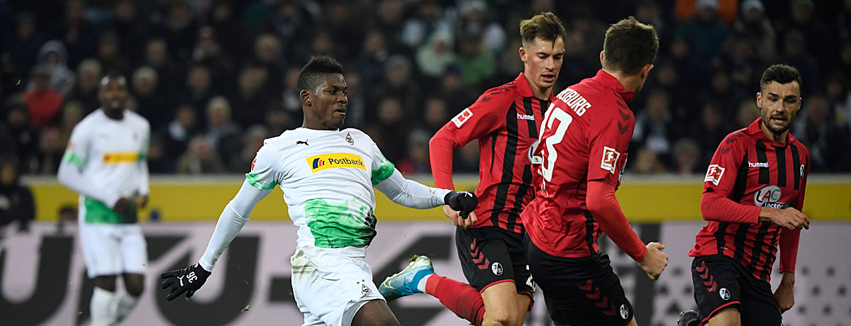 SC Freiburg - Borussia Mönchengladbach: Die Fohlen sind ein gerngesehener Gast