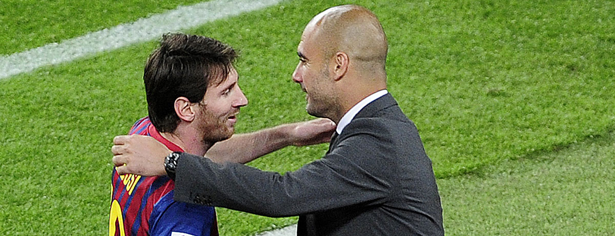 Lionel Messi und Pep Guardiola