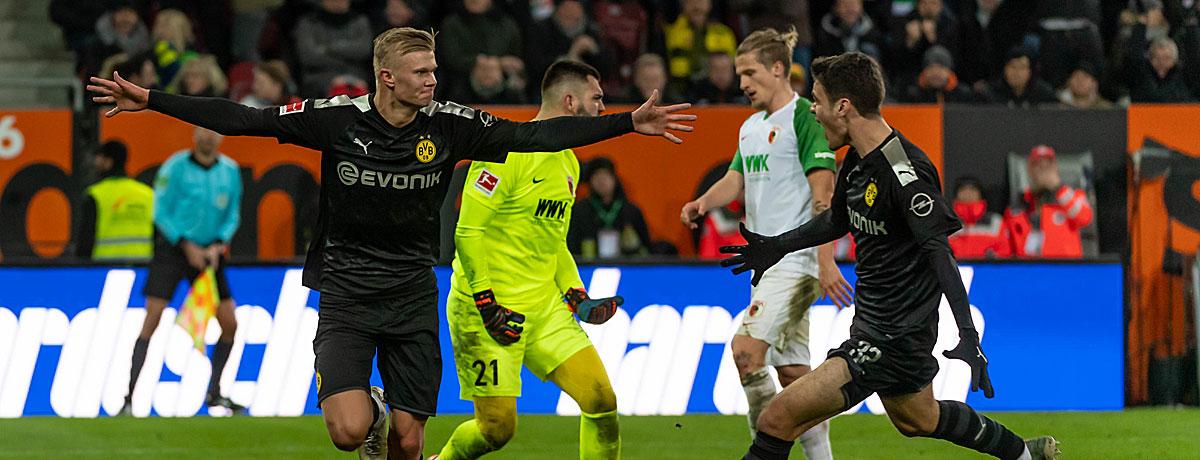 BVB - FC Augsburg: Dortmund zum Siegen verdammt