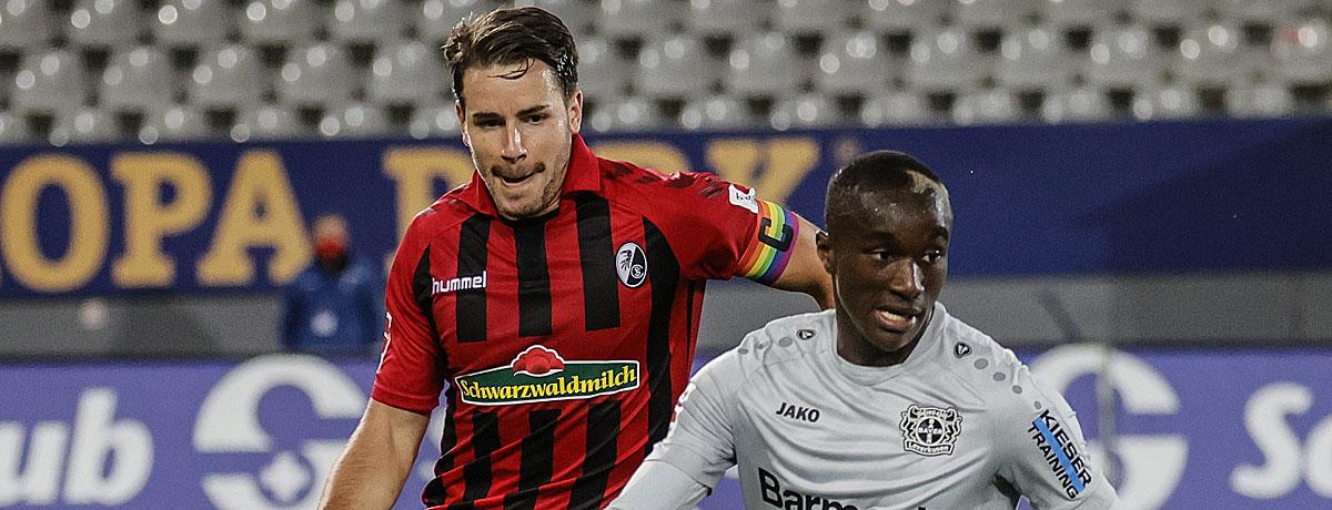 Bayer Leverkusen - SC Freiburg: Anfällige Werkself schaut in den Rückspiegel