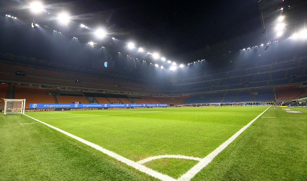 Das altehrwürdige Giuseppe Meazza Stadion, das die Heimspielstätte sowohl von Inter als auch von AC ist