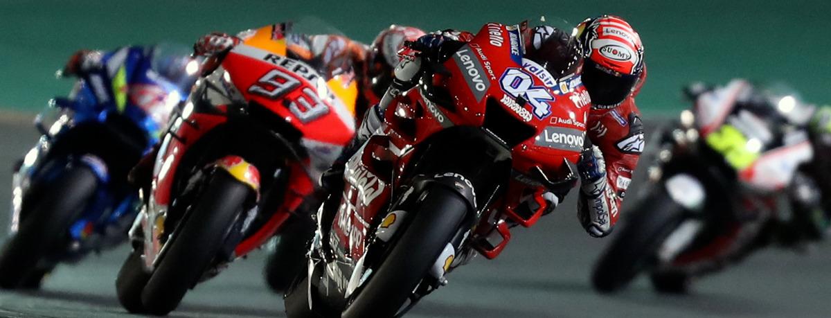MotoGP Katar: Ducati-Dominanz vom Winde verwehrt