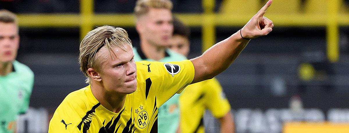 Bundesliga-Torschützenkönig: Haaland jagt Lewandowski