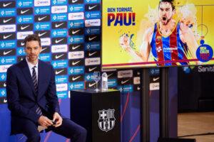 FC Barcelona Basketball Present New Signing Pau Gasol
