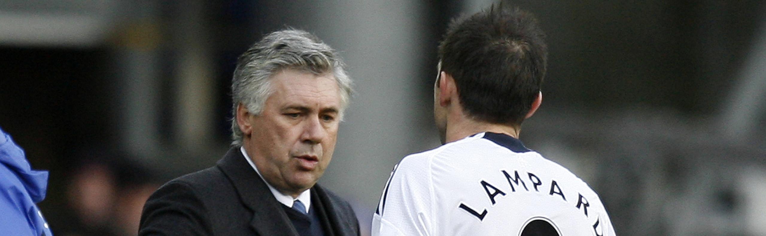 Everton-Chelsea, Lampard sotto esame dal maestro Ancelotti