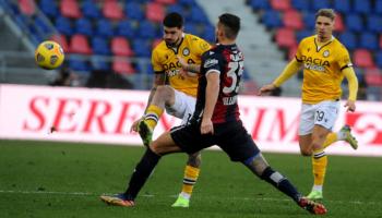 Udinese-Bologna, friulani e felsinei di fronte con lo sguardo al futuro